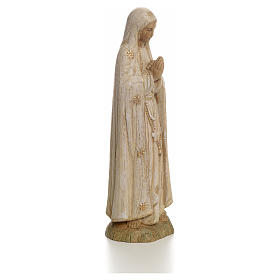Our Lady of Fatima statue in painted wood 15 cm, Bethleem s2