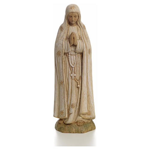 Our Lady of Fatima statue in painted wood 15 cm, Bethleem 1