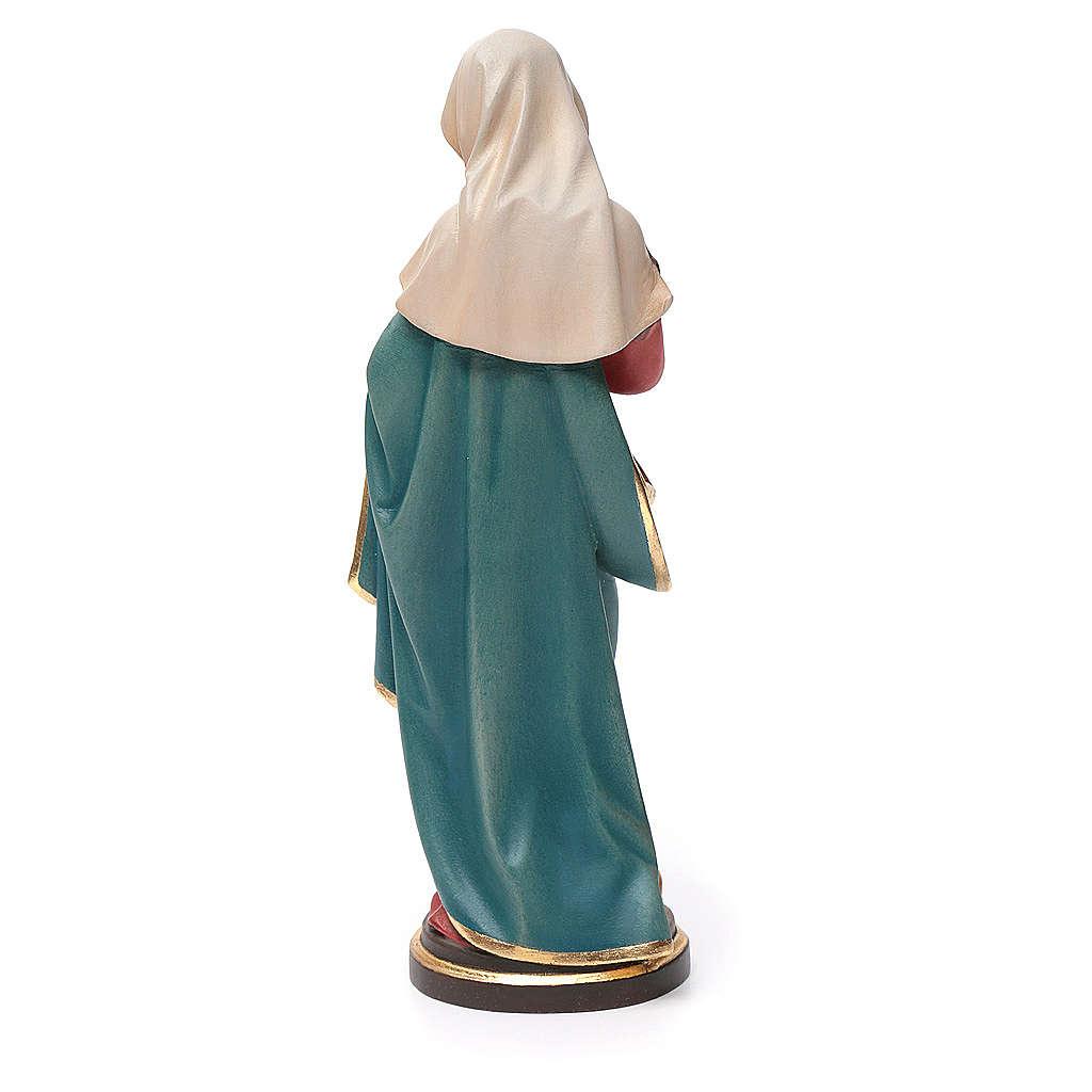 Vierge à l'enfant bois peint Valgardena 4