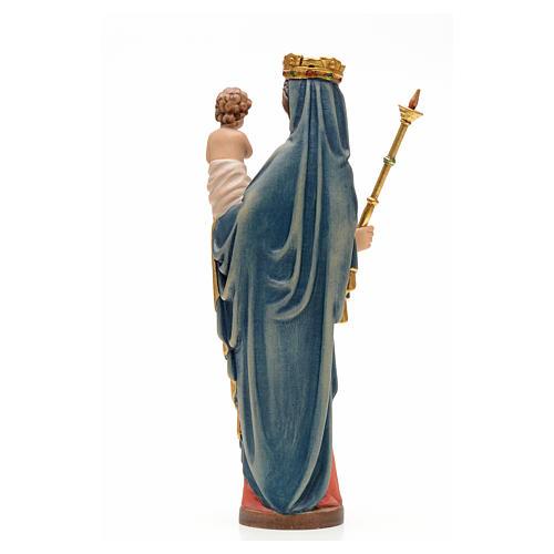 Madonna con bimbo e scettro 25 cm legno stile gotico 3