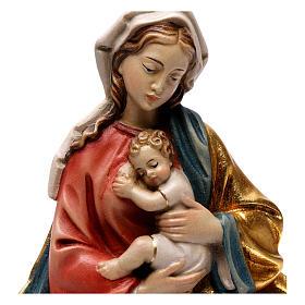 Rilievo Madonna bimbo stile barocco 20 cm legno Valgardena s2