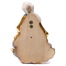 Rilievo Madonna bimbo stile barocco 20 cm legno Valgardena s5