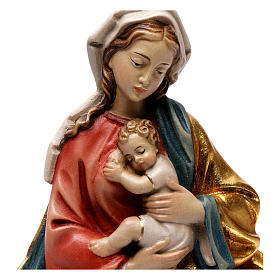 Madonna and baby relief, painted Valgardena wood, baroque style s2