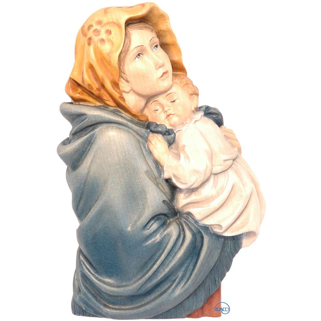 Relief Vierge du Ferruzzi bois peint Valgardena 4