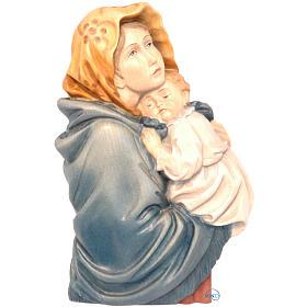 Relief Vierge du Ferruzzi bois peint Valgardena s1