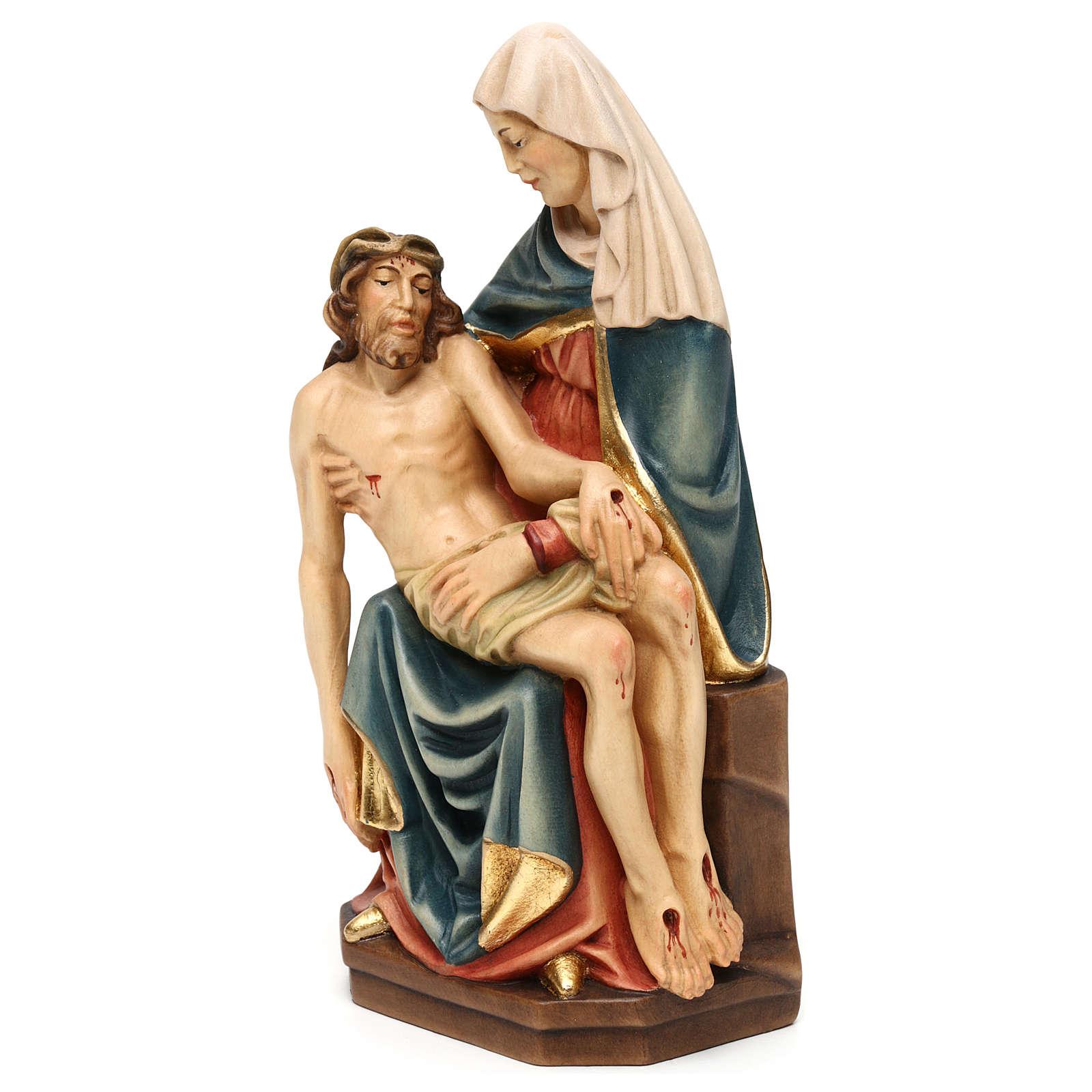 Piedad de Miguel Ángel madera pintada Valgardena 4