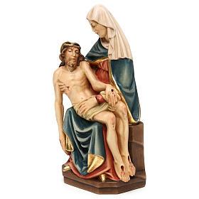 Pietà di Michelangelo legno dipinto Valgardena s3