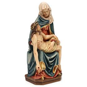 Pietà di Michelangelo legno dipinto Valgardena s4