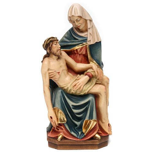 Pietà di Michelangelo legno dipinto Valgardena 1