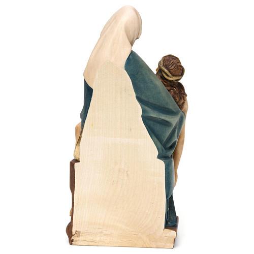 Pietà di Michelangelo legno dipinto Valgardena 5