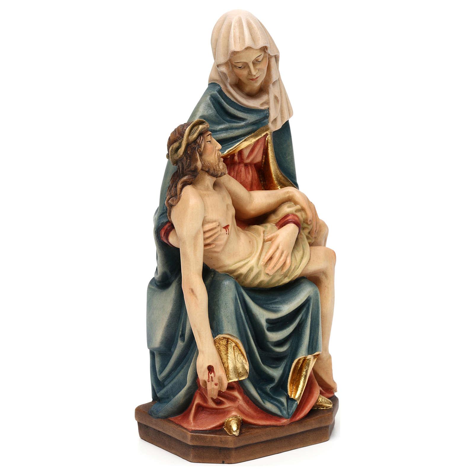 Pietà de Michelangelo madeira pintada Val Gardena 4