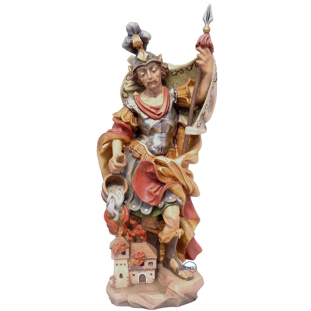 San Floriano stile barocco legno dipinto Valgardena 4