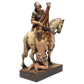 STOCK San Martino a cavallo legno dipinto Valgardena s4