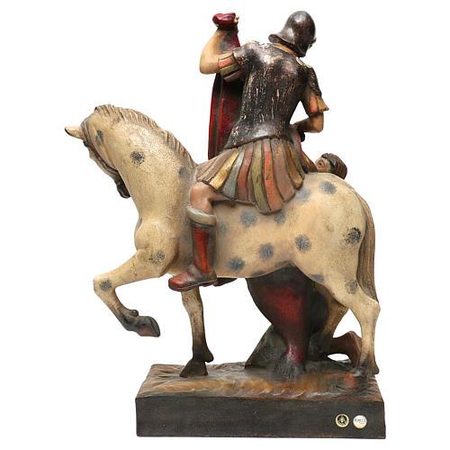 STOCK San Martino a cavallo legno dipinto Valgardena 5