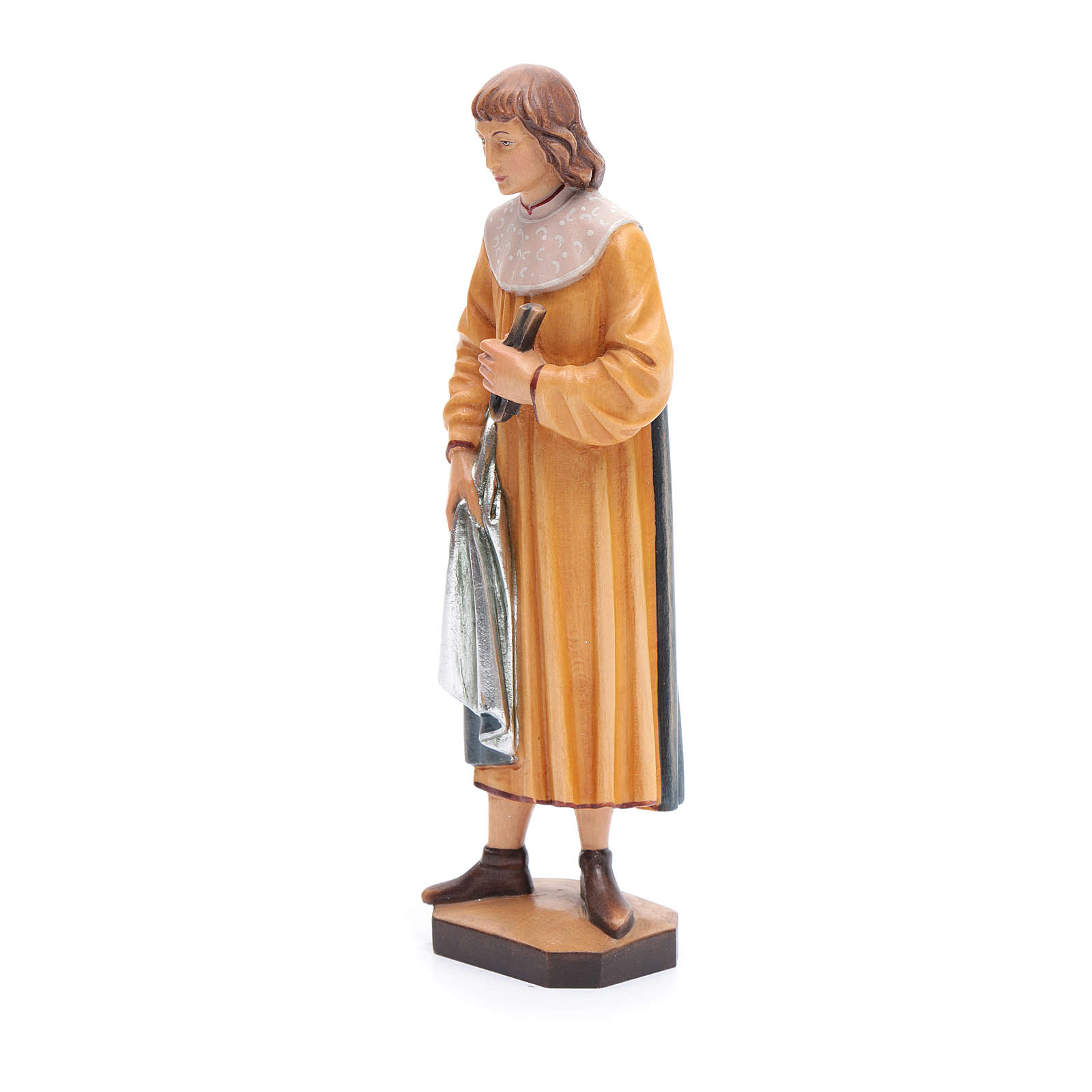 San Cosimo con forcipe 25 cm legno dipinto Valgardena 4