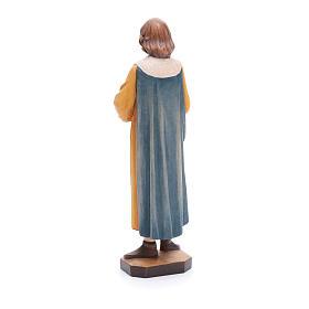 San Cosimo con forcipe 25 cm legno dipinto Valgardena s3
