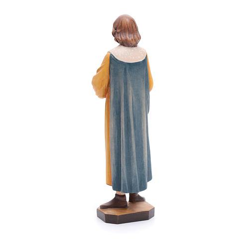 San Cosimo con forcipe 25 cm legno dipinto Valgardena 3