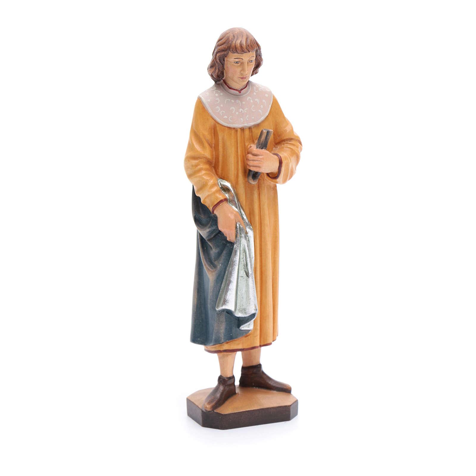 Saint Cosmas with forceps in painted Valgardena wood, 25cm 4