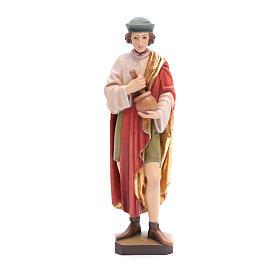 Statues en bois peint: Saint Damien avec mortier 25 cm bois peint Valgardena