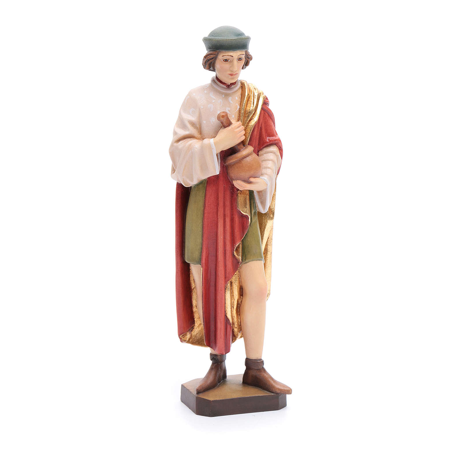 San Damiano 25 cm legno dipinto Valgardena 4