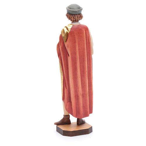 San Damiano 25 cm legno dipinto Valgardena 3