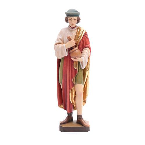 San Damiano 25 cm legno dipinto Valgardena 1
