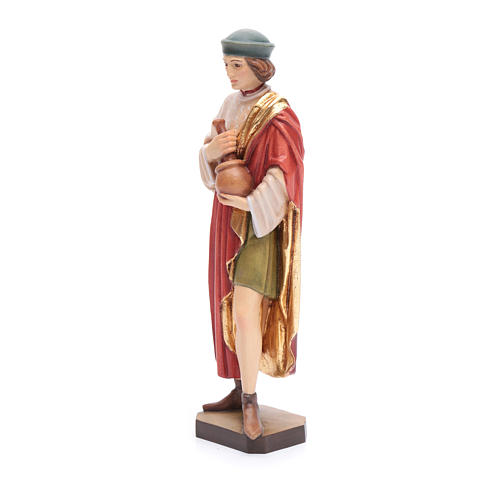 San Damiano 25 cm legno dipinto Valgardena 2