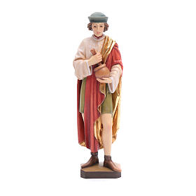 Hand painted wooden statues: Saint Damien in painted Valgardena wood, 25cm