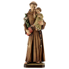San Antonio con niño madera pintada Val Gardena