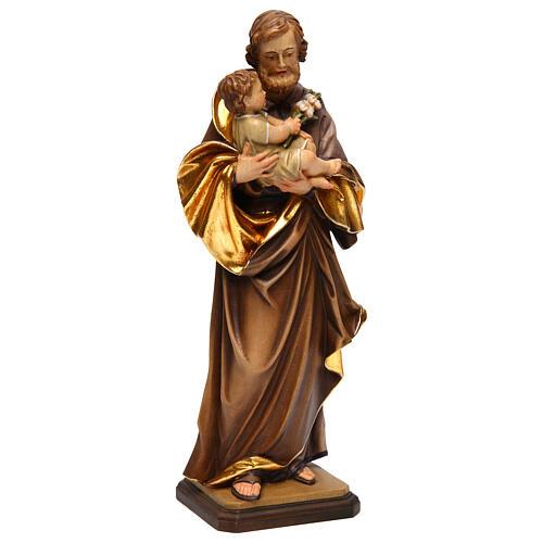 Heiliger Josef mit Kind bei Guido Reni Grödnertal Holz 4