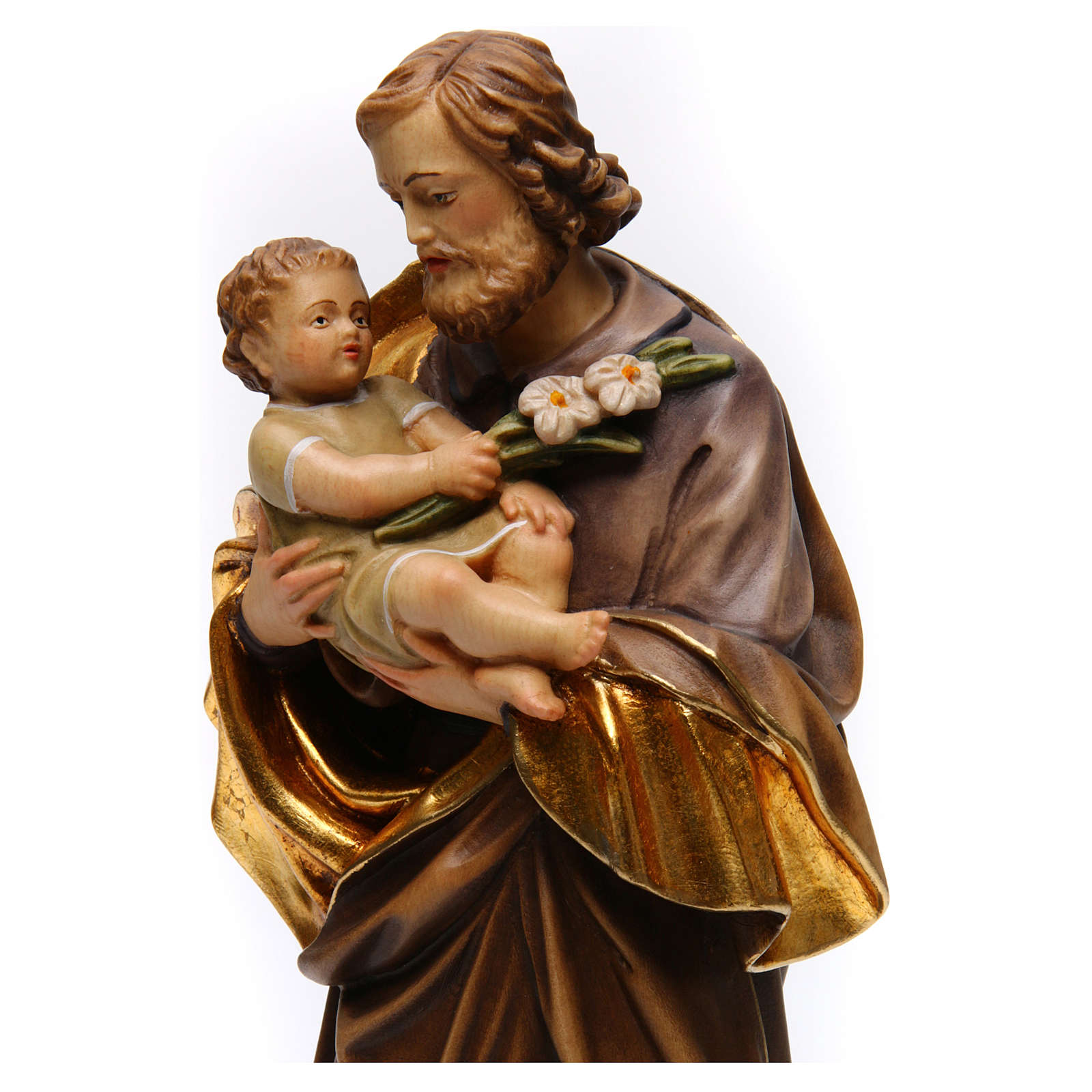 San José con niño de Guido Reni madera Val Gardena 4