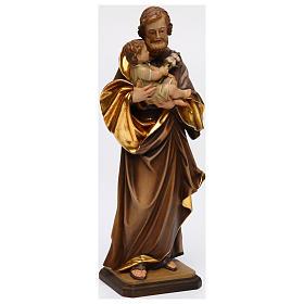 San Giuseppe con bimbo di Guido Reni legno Valgardena s4