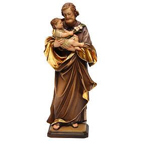 San Giuseppe con bimbo di Guido Reni legno Valgardena s1