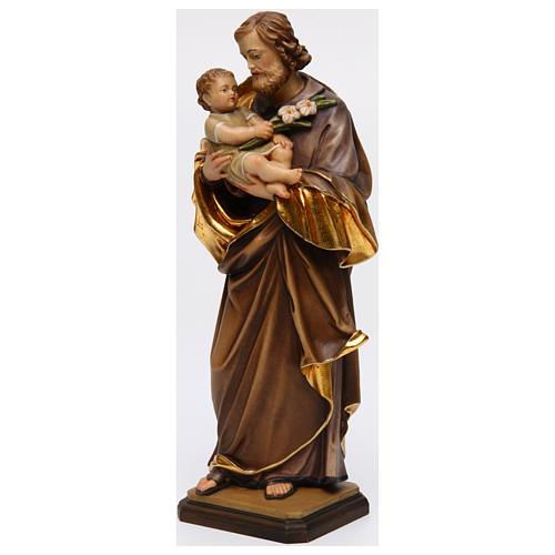 San Giuseppe con bimbo di Guido Reni legno Valgardena 3