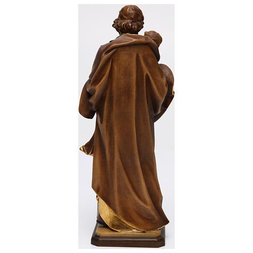 San Giuseppe con bimbo di Guido Reni legno Valgardena 5