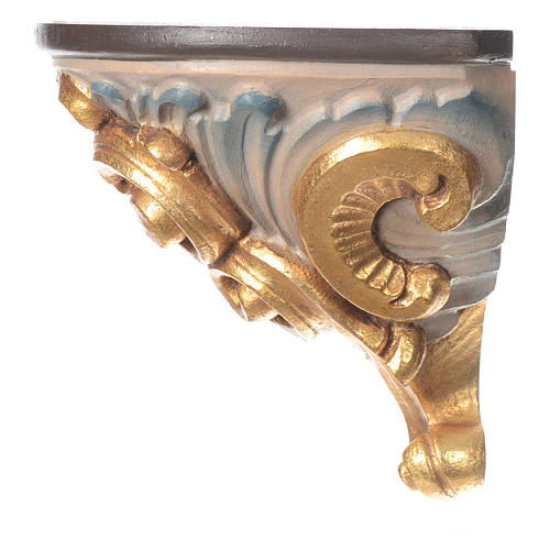 Mensola per parete stile barocco legno colorato Valgardena 2
