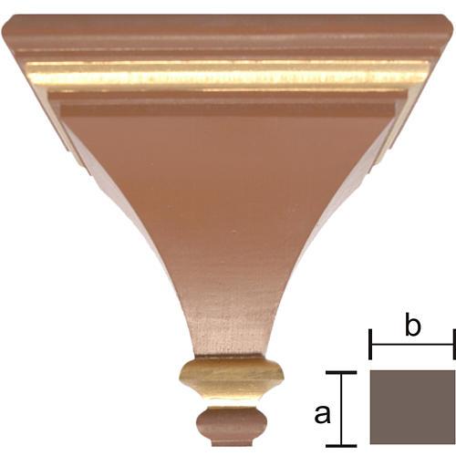 Mensola per parete 7x8 cm legno dipinto Valgardena 1