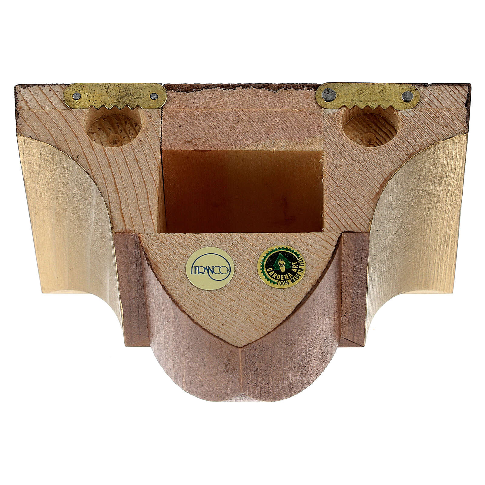 Wall bracket for statue in wood, gothic style 9x11 cm 4