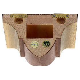 Wall bracket for statue in wood, gothic style 9x11 cm s4