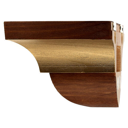 Wall bracket for statue in wood, gothic style 9x11 cm 3