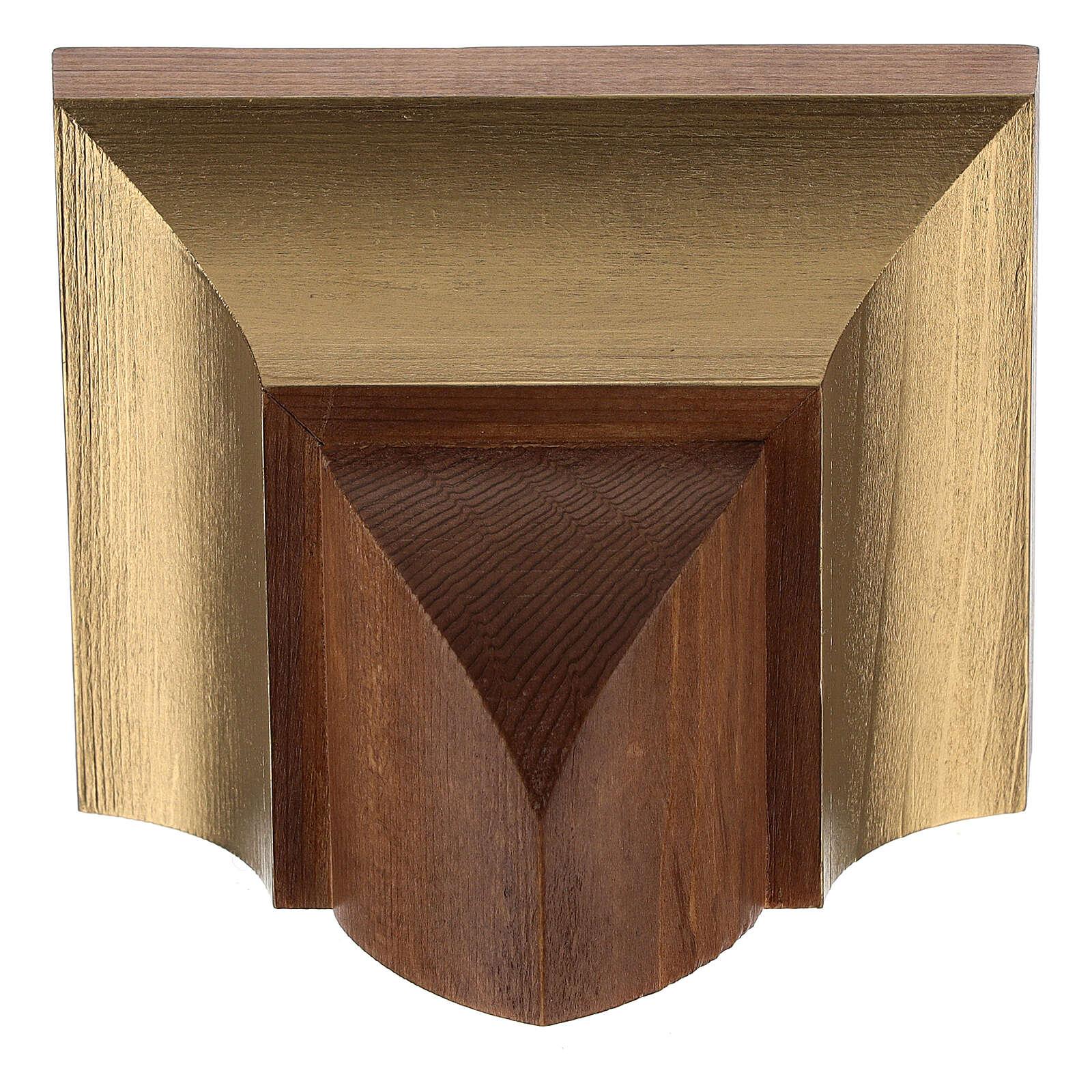 Ménsula pared estilo gótico 9x11 cm madera Valgard 4