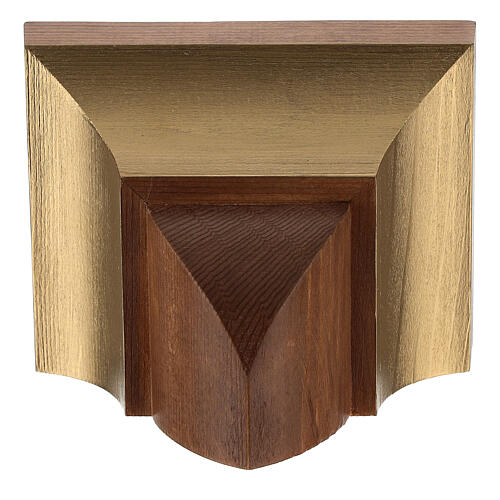Ménsula pared estilo gótico 9x11 cm madera Valgard 2