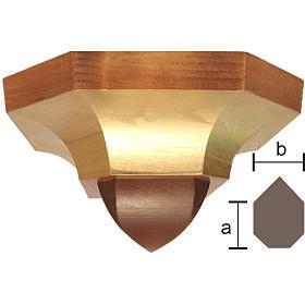 Mensola ad angolo stile gotico 12x14 cm legno Valgardena s1