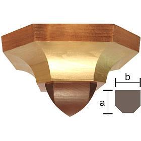 Mensola per parete stile gotico 12x14 cm legno Valgardena s1