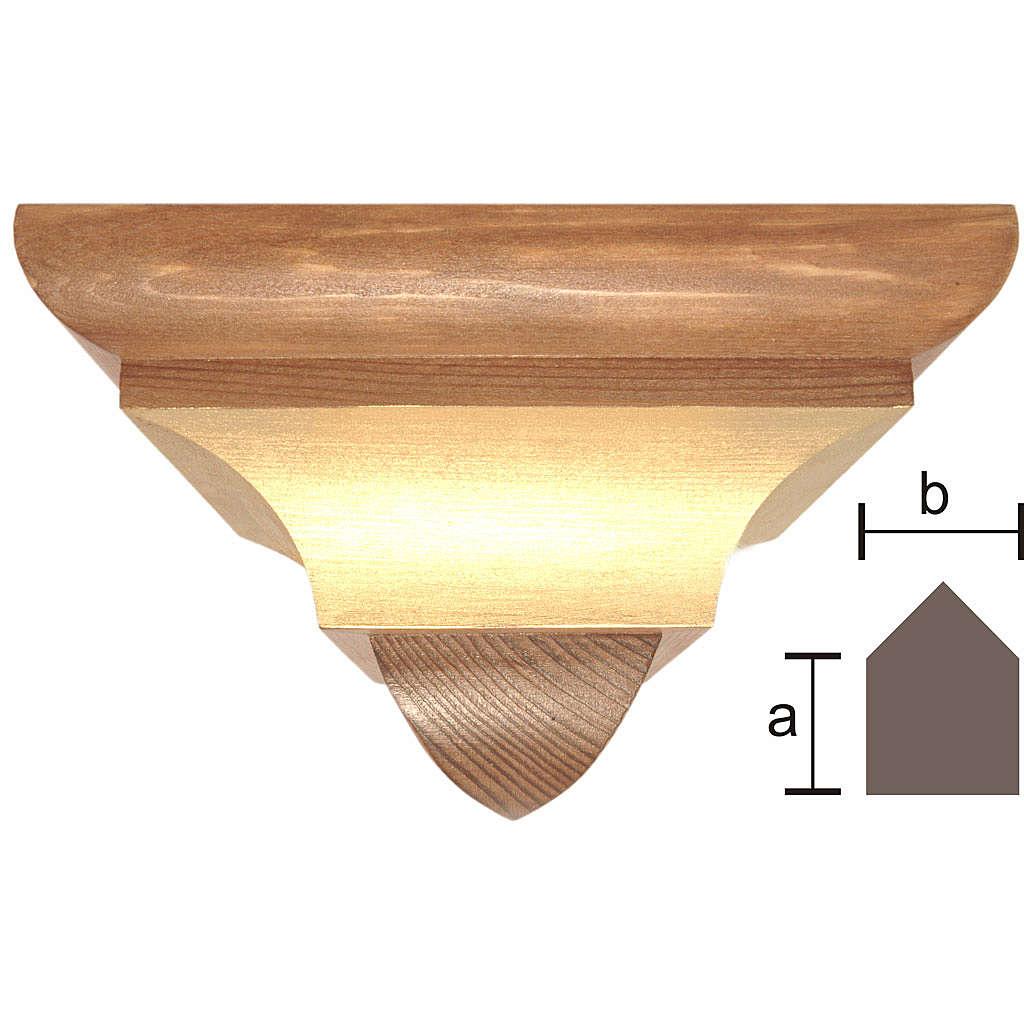 Mensola per angolo stile gotico legno Valgardena 4