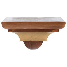 Ménsula madera Valgardena para pared estilo gótico s1