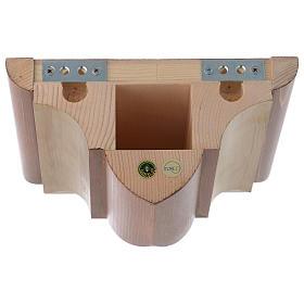 Ménsula madera Valgardena para pared estilo gótico s4
