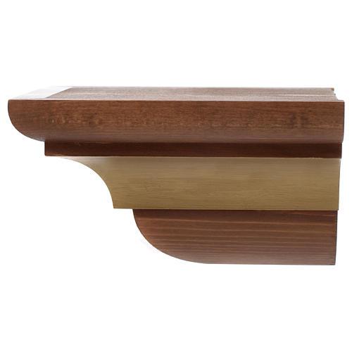 Ménsula madera Valgardena para pared estilo gótico 3