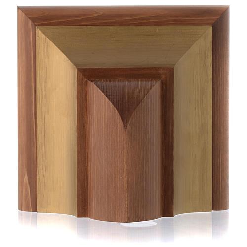 Mensola per parete stile gotico legno Valgardena 2
