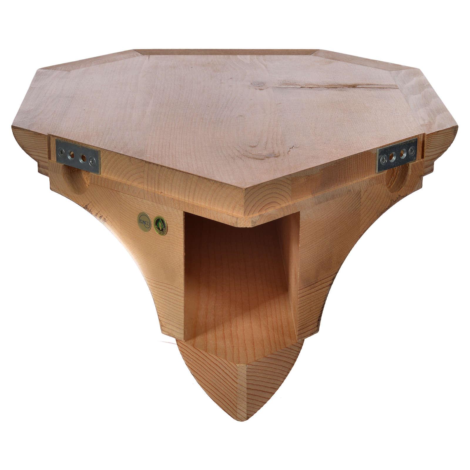 Ménsula madera Valgardena para ángulo 4
